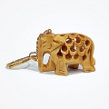 Wooden Elephant Keychain - Pack of 12pc