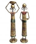 Iron Painted Doll set of 2