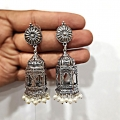 Beautiful Jhumka Earring with White Beads