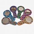 Lac Handle Pocket Mirror - Pack of 6pc
