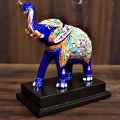 Meenakari Painted Elephant with Base