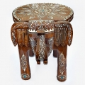 Artistically Handmade Elephant Stool - Big