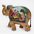 Indian Traditional Painted Wooden Elephant