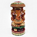 Wooden Painted Ganesh - 15cm Height