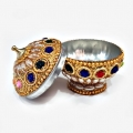 Golden Round Trendy Kumkum Box