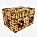 Handcrafted Beaded Wooden Box