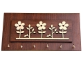 Stylish Floral Designed Wooden Key Holder